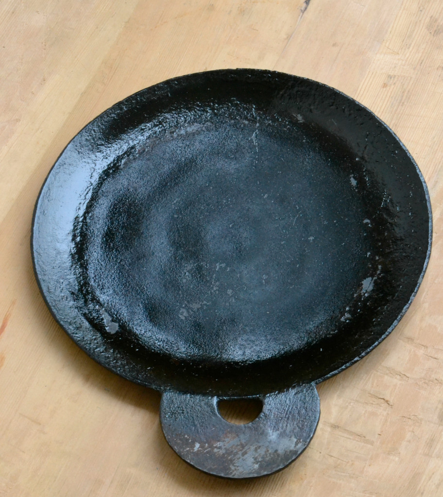 Dosa pan after seasoning |kannammacooks.com