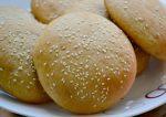 Whole wheat hamburger buns. Healthy.soft and moist.|kannammacooks.com #wholegrain #burger #bun #sesame #wholewheat #lowfat #vegan