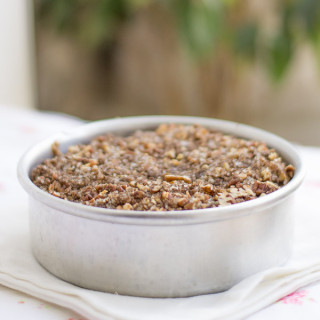 No-butter-easy-pecan-cinnamon-streusel-coffee-cake-recipe  kannammacooks.com #pecan #streusel #healthy #coffee #cake #easy #recipe #thanksgiving