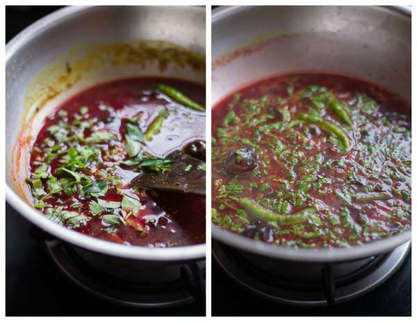 South-indian-beetroot-rasam-boil
