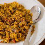 Mushroom Biryani, Chettinad Style Spicy Mushroom Biryani – Pressure Cooker Method
