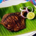 Pomfret Fish Fry or Vavval Meen Varuval Recipe, Spicy Meen Varuval