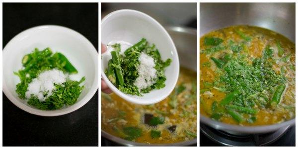 Poondu-rasam-recipe-garnish