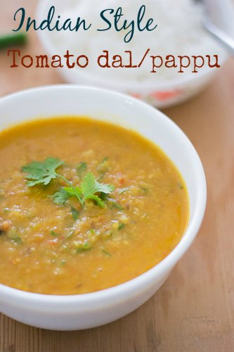 Indian-Tomato-pappu-dal-andhra-style-masoor-dal-in-tomatoes-tangy-recipe  kannammacooks.com #andhra #telugu #style #tomato #pappu #ghee #rice #dal #lunch #dal #soup #comfort