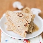 Vegan Mushroom Quesadilla – Mushroom Chapati Sandwich