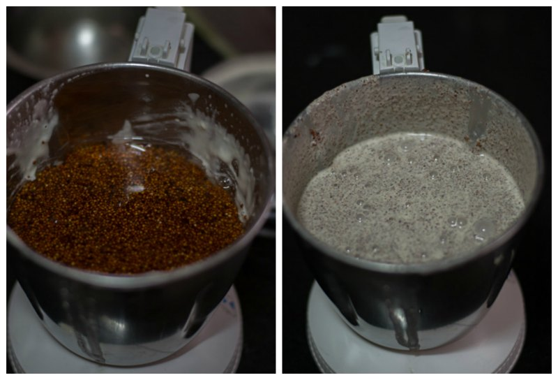 South-Indian-Fermented-Ragi-Dosa-batter-Recipe-grind-ragi
