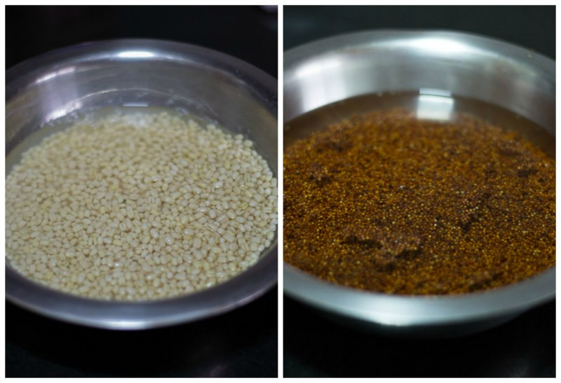 South-Indian-Fermented-Ragi-Dosa-batter-Recipe-soak