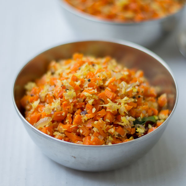 Tamilnadu Style Carrot Poriyal With Coconut Carrot Poriyal Recipe