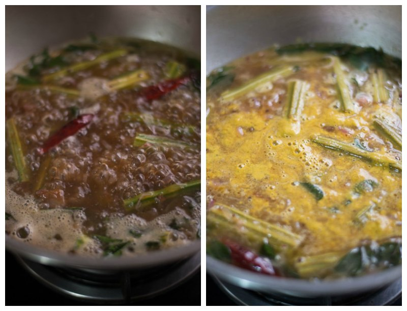 Tamilnadu-Murungakkai-puli-kuzhambu-simmer