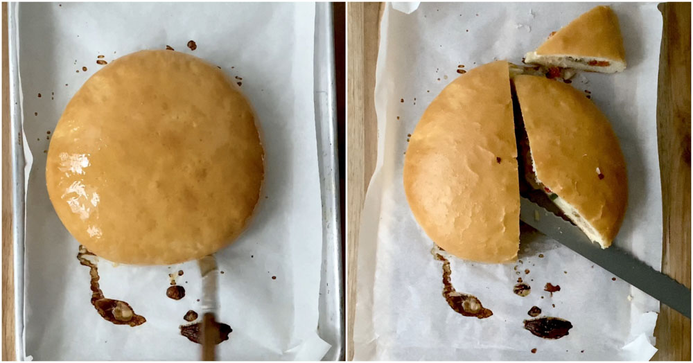 Thengai-bun-tamil-Indian-bakery-style-coconut-bun-oven-recipe-15