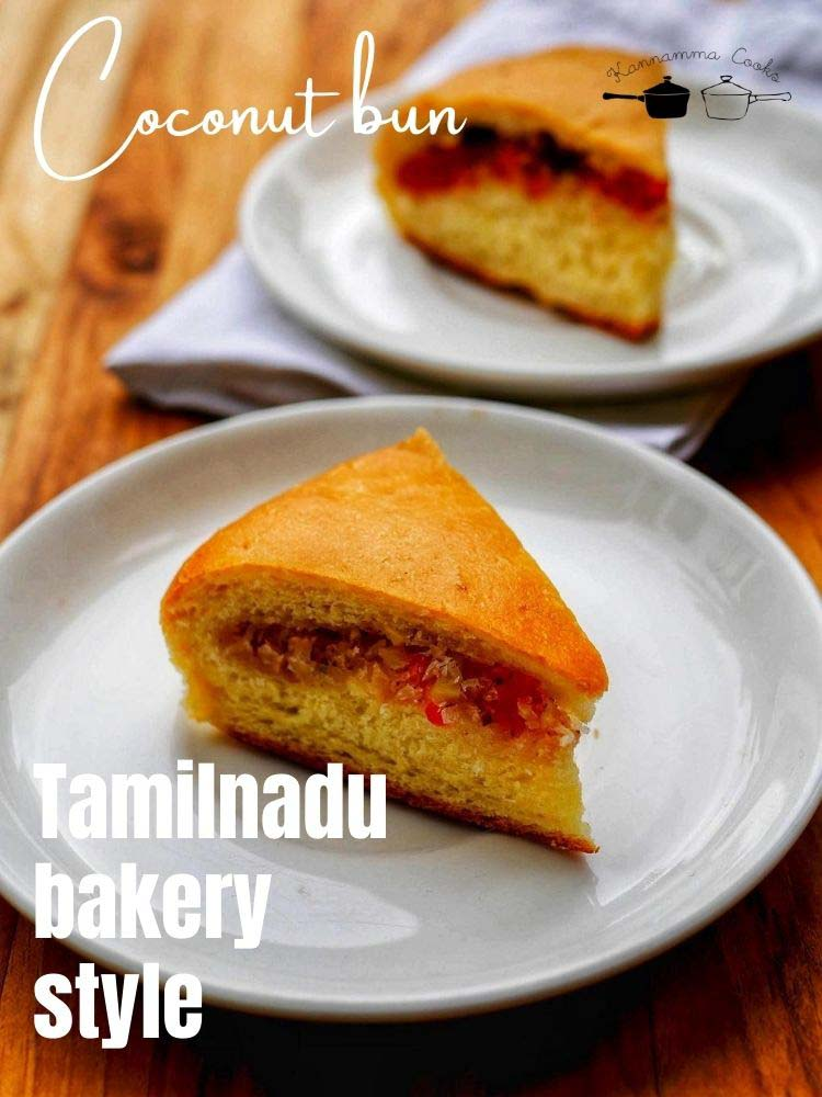 Thengai-bun-tamil-Indian-bakery-style-coconut-bun-oven-recipe-17