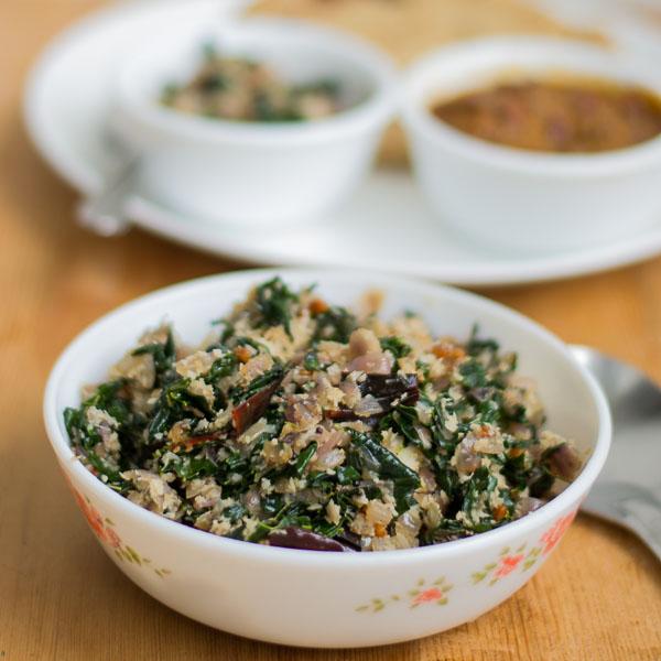 Vegan-south-indian-murungai-keerai-drumstick-leaves-poriyal-moringa-recipe |kannammacooks.com #murungai #moringa #stir-fry #iron #minerals #vitamin # rich #south #indian
