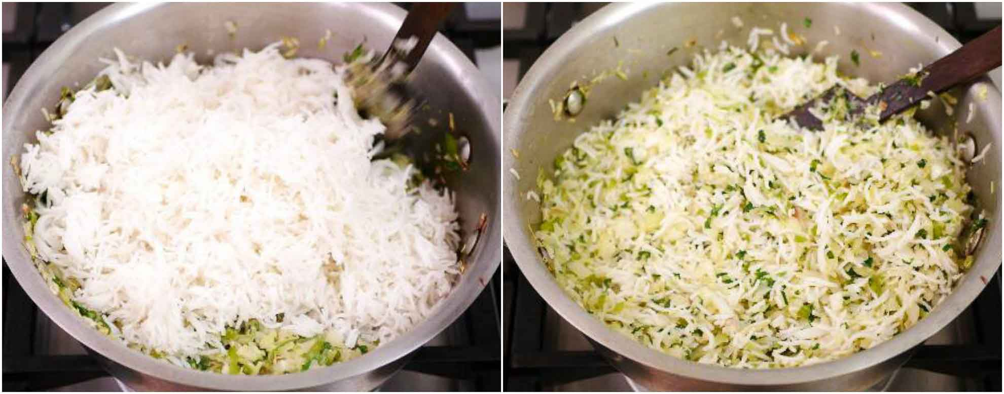 how to cook cabbage rice
