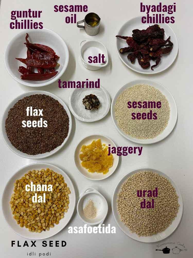 flaxseed-idli-podi-recipe-chutney-powder-1