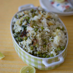 green-peas-pulao-recipe-served