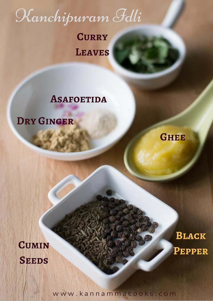 kanchipuram-idli-ingredients