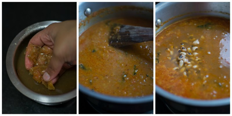 karamani-black-eyed-bean-puli-kuzhambu-curry-recipe-peas