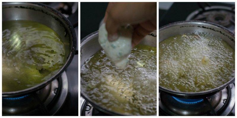 mangalore-bonda-maida-bonda-flour-bajji-goli-baje-recipe-preparation-oil  kannammacooks.com #hush #puppies #south #indian #mangalore #bonda #bajji #tea #time #snack #deep #fried #yummy #fritters