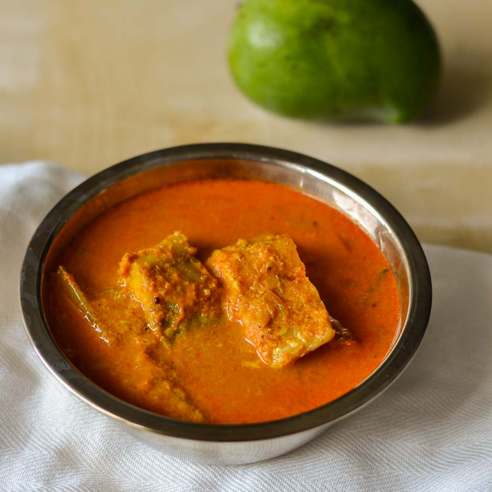 Meen Manga Curry, Fish Curry in Raw Mango coconut Sauce