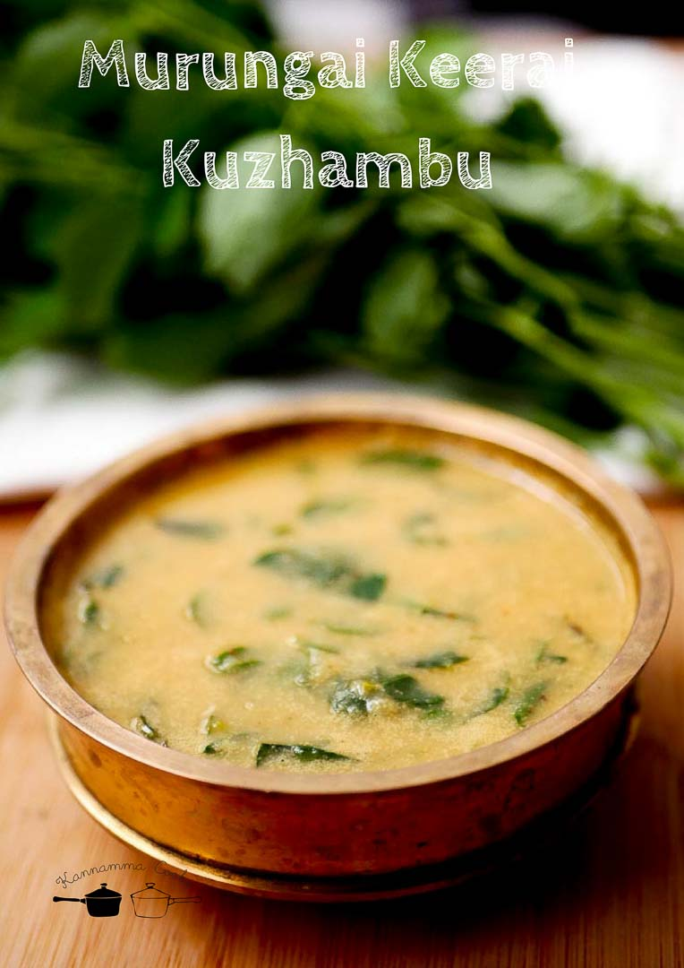 murungai keerai kuzhambu drumstick leaves curry recipe-15