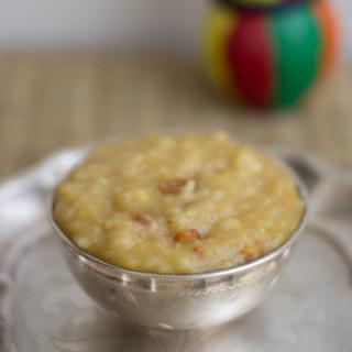 sakkarai-pongal-chakkara-pongal-recipe-sweet-pongal-neivedhyam-pongal festival-plated