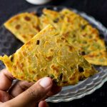Spring Onion Paratha with Cheese
