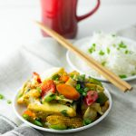 Thai style stir fry vegetables