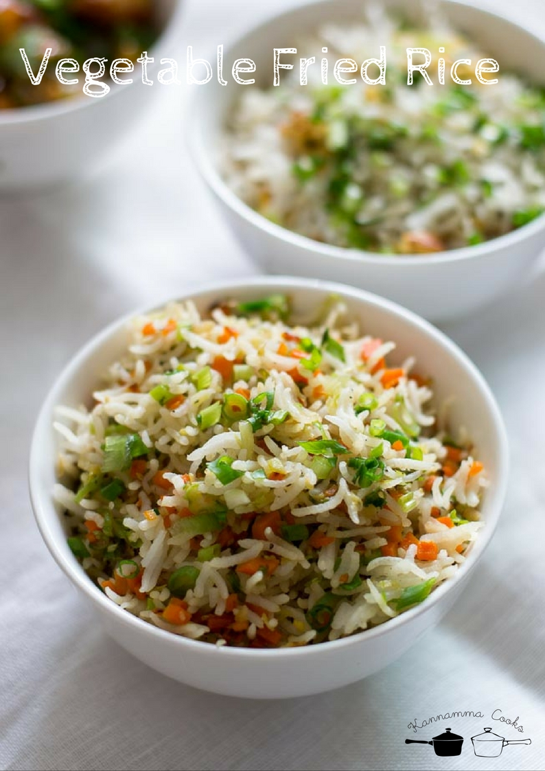 Vegetable fried rice recipe easy veg fried rice indian style recipe veg rice fried rice forumfinder Choice Image