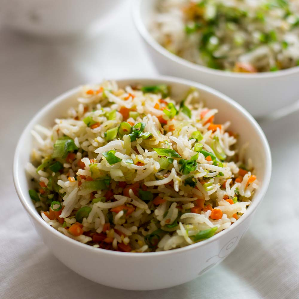 fried rice recipe | Vegetable fried rice | easy ... - YouTube