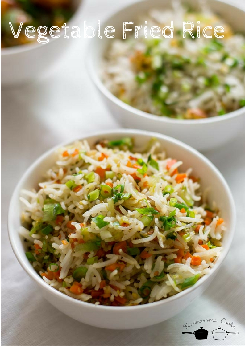 Vegetable fried rice recipe easy veg fried rice indian style recipe vegetable fried rice yum ccuart Images