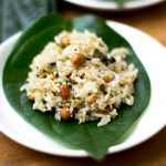 Vetrilai Poondu Sadam / Betel Leaves Rice with Garlic